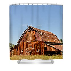 Shower Curtain featuring the photograph Sunlit Barn by Sue Smith
