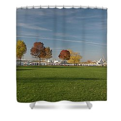 Sunny Autumn Day Shower Curtain by Jonah  Anderson