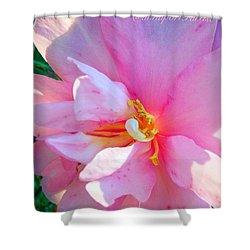 Sunny Camellia Shower Curtain