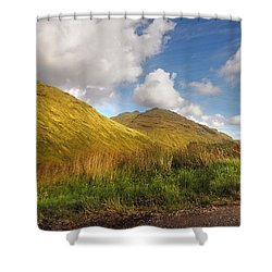Sunny Day At Rest And Be Thankful. Scotland Shower Curtain by Jenny Rainbow