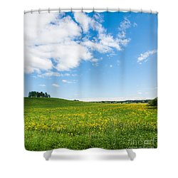 Sunny Day At The Fields Of Gold Shower Curtain