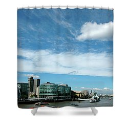 Sunny Day London Shower Curtain by Jonah  Anderson