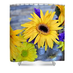 Shower Curtain featuring the photograph Sunny Days by Ally  White