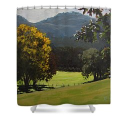 Sunny Fall Day Shower Curtain