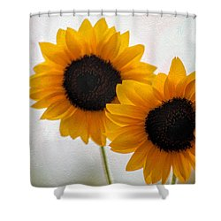 Sunny Flower On A Rainy Day Shower Curtain by Tammy Espino