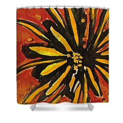 Shower Curtain featuring the painting Sunny Hues Watercolor by Joan Reese