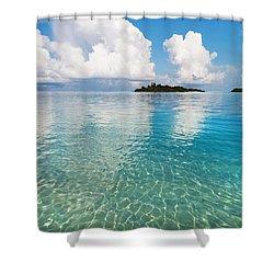 Sunny Invitation For  You. Maldives Shower Curtain by Jenny Rainbow