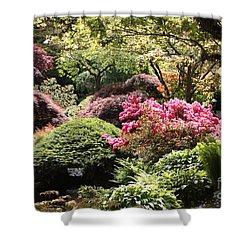 Sunny Japanese Garden Shower Curtain by Carol Groenen