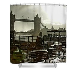 Sunny Rainstorm In London England Shower Curtain
