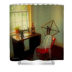 Sunny Sewing Room Shower Curtain by RC deWinter