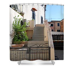 Shower Curtain featuring the photograph Sunny Tuscany Village by Ramona Matei