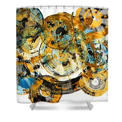 Shower Curtain featuring the painting Sunrise - 991.042212 by Kris Haas