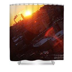 Sunrise  Shower Curtain by Anna Yurasovsky