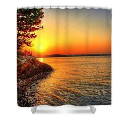 Sunrise Around The Bend Shower Curtain