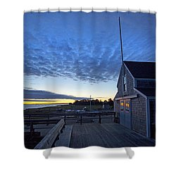 Sunrise At Barnstable Yacht Club Shower Curtain