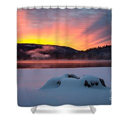 Sunrise At Bass Lake Shower Curtain
