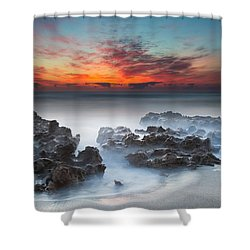 Sunrise At Blowing Rocks Preserve Shower Curtain by Andres Leon