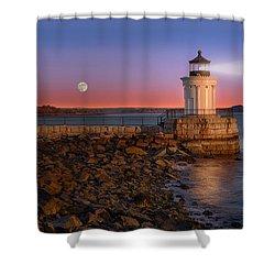 Sunrise At Bug Light Shower Curtain by Susan Candelario