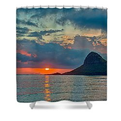 Sunrise At Kualoa Park Shower Curtain by Dan McManus