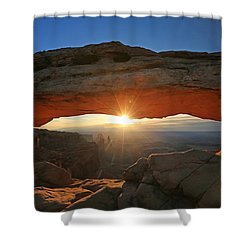 Sunrise At Mesa Arch Shower Curtain