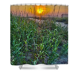 Shower Curtain featuring the photograph Sunrise At Myrtle Beach by Alex Grichenko