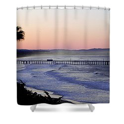 Shower Curtain featuring the photograph Sunrise At Pismo Beach by Kathy Churchman