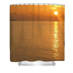 Shower Curtain featuring the photograph Sunrise At Sea by Photographic Arts And Design Studio