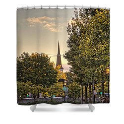 Sunrise At The End Of The Street Shower Curtain by Daniel Sheldon