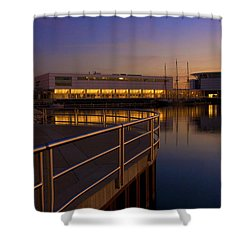 Sunrise At The Lakefront Shower Curtain by Jonah  Anderson