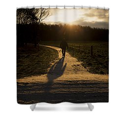 Sunrise Atmosphere Shower Curtain by Mike Santis