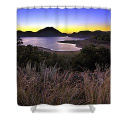 Sunrise Behind The Quartz Mountains - Oklahoma - Lake Altus Shower Curtain