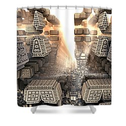 Sunrise City Shower Curtain by Kevin Trow
