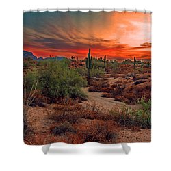 Sunrise Cocktail Shower Curtain