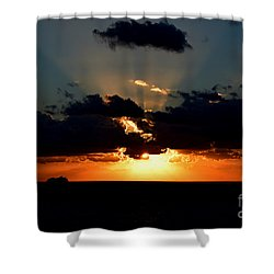 And God's Glory Shown All Around Shower Curtain