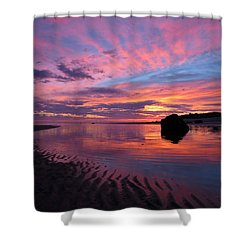 Shower Curtain featuring the photograph Sunrise Drama by Dianne Cowen