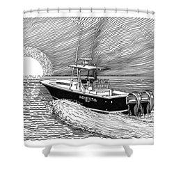 Sunrise Fishing Shower Curtain by Jack Pumphrey