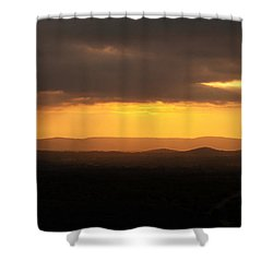Sunrise From Enchanted Rock Shower Curtain