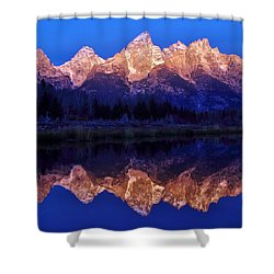 Shower Curtain featuring the photograph Sunrise Glow by Benjamin Yeager