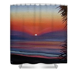 Shower Curtain featuring the painting Sunrise Glow by Donna Tuten