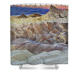 Sunrise In Death Valley Shower Curtain by Juli Scalzi