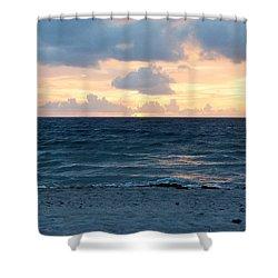 Shower Curtain featuring the photograph Sunrise In Deerfield Beach by Rafael Salazar