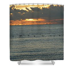 Shower Curtain featuring the photograph Sunrise In Florida Riviera by Rafael Salazar