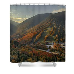 Sunrise In Franconia Notch Shower Curtain