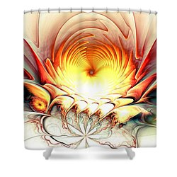 Sunrise In Neverland Shower Curtain by Anastasiya Malakhova