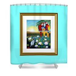 Sunrise In Paradise. Inspiration Collection Shower Curtain
