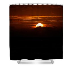 Sunrise In The Clouds Shower Curtain