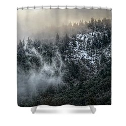 Shower Curtain featuring the photograph Sunrise In The Clouds by Melanie Lankford Photography