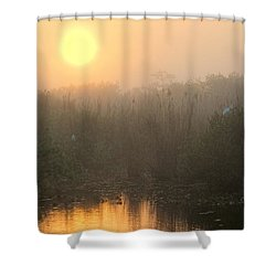 Sunrise In The Everglades Shower Curtain by Rudy Umans