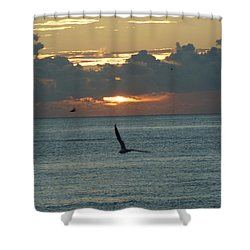 Shower Curtain featuring the photograph Sunrise In The Florida Riviera by Rafael Salazar