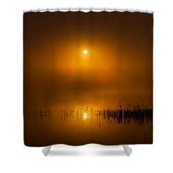 Sunrise In The Fog Shower Curtain